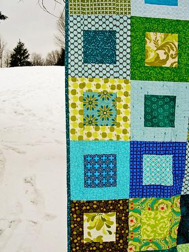 Grandpa's quilt front closeup