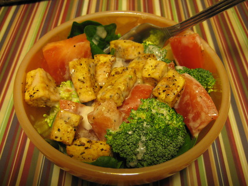 salad with tofu