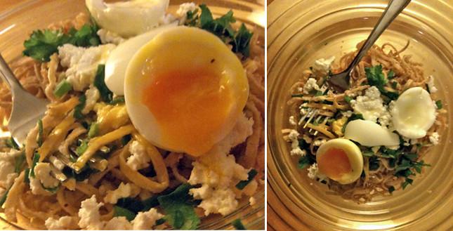 Walnut-Breadcrumb Pasta with Soft Egg
