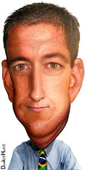 Glenn Greenwald - Caricature