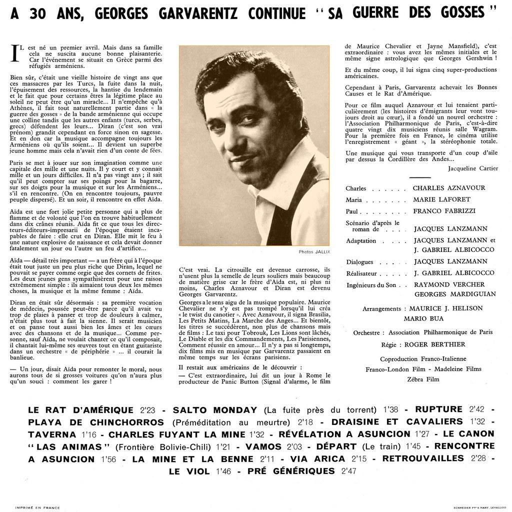 Georges Garvarentz - Le Rat d'Amérique