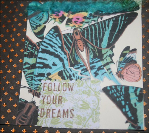 "Follow your dreams 4"" x 4"" Collage Card"