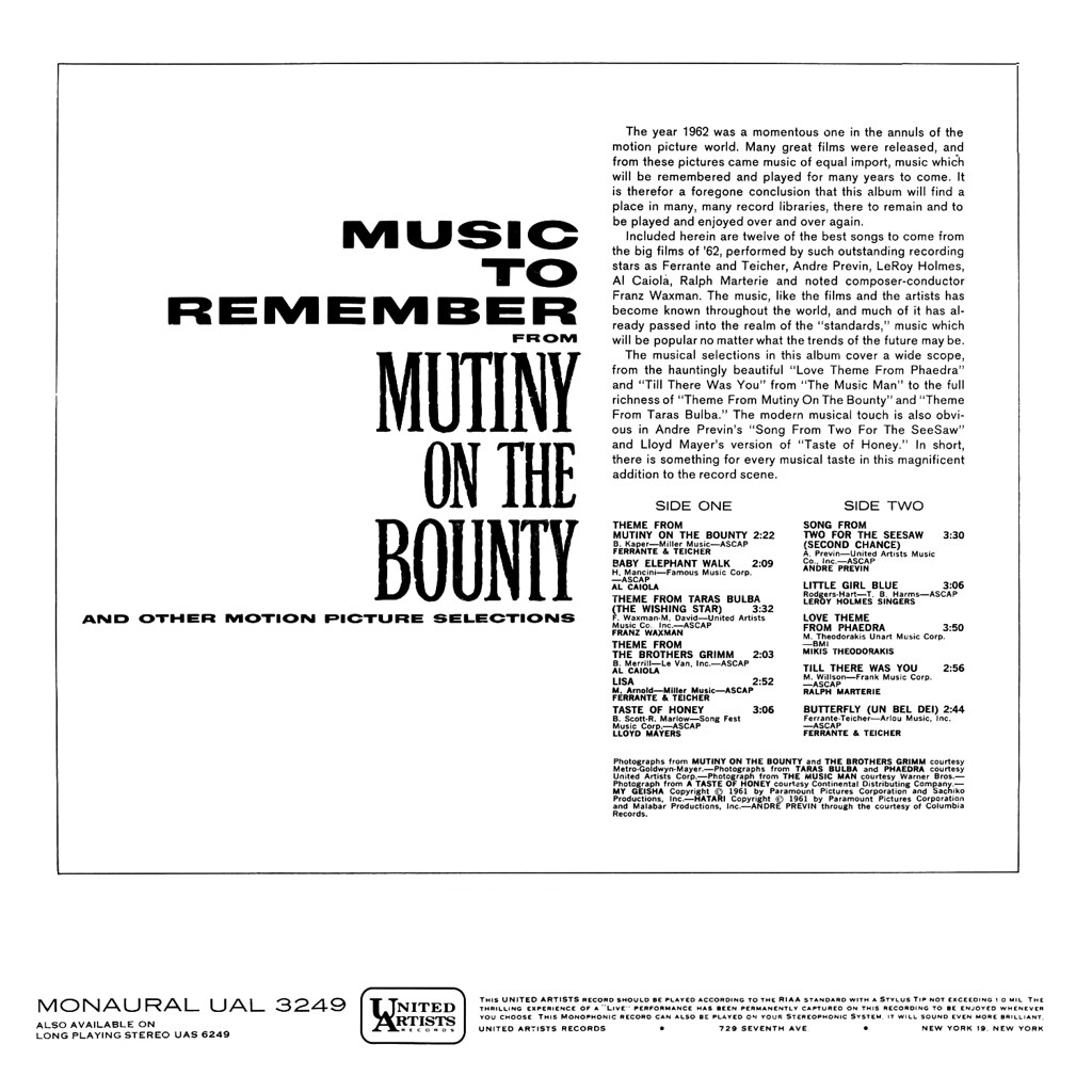 Various Artists - Mutiny on the Bounty