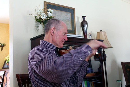 Grandpa Plays L3's Violin