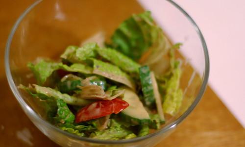 winning (romaine) hearts and minds salad.