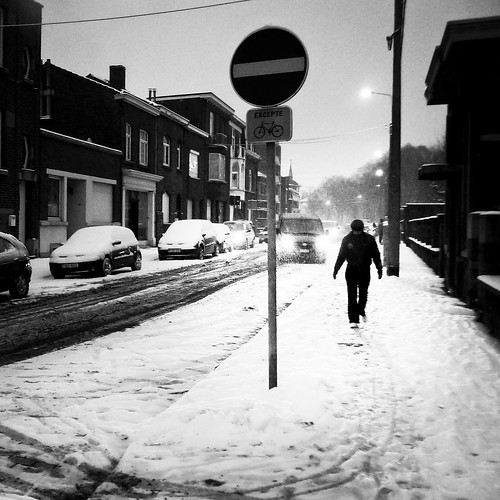 In the Blizzard (Grivegnee, Liege) - Photo : Gilderic