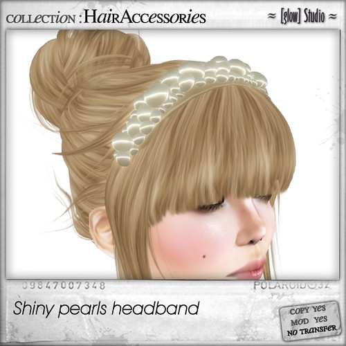 [ glow ] studio - Shiny pearls headband