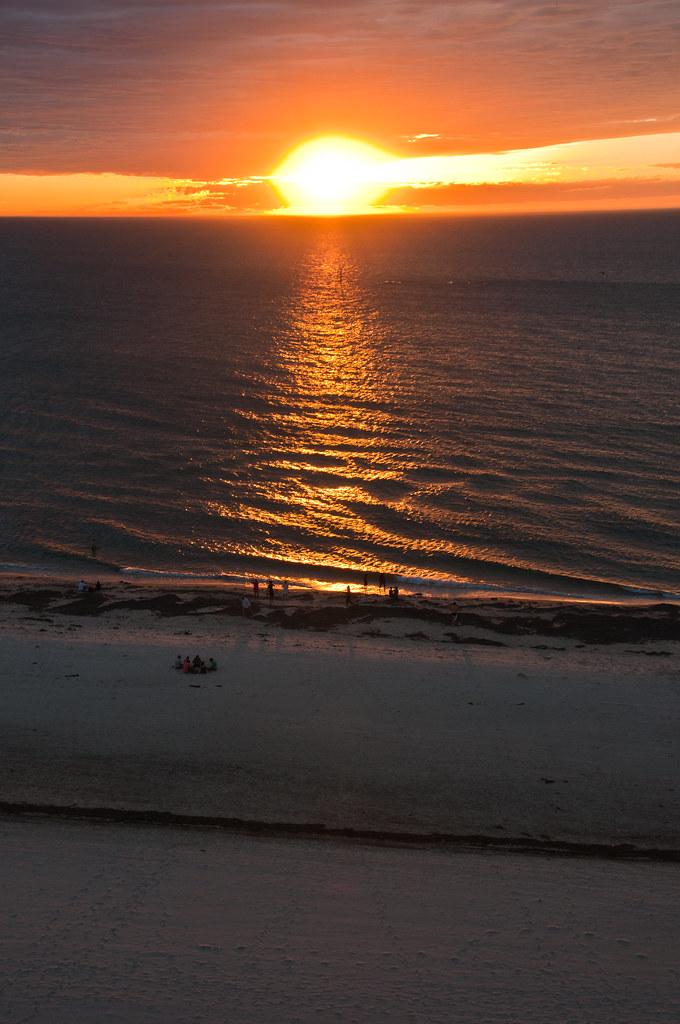 Sunset from our hotel, Glenelg, Adelaide