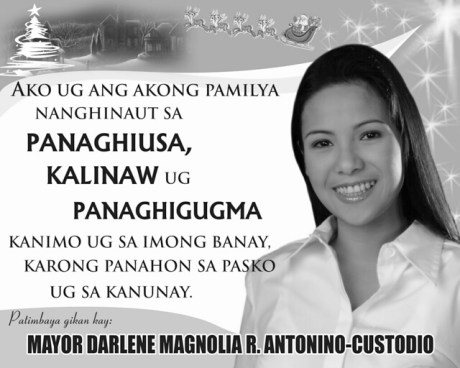 Mayor darlenes greetings for the season gensan news online mag gikan m4hsunfo