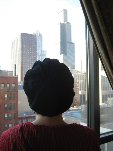 purl beret back black