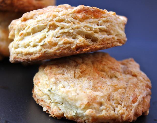 herb-gruyère biscuits