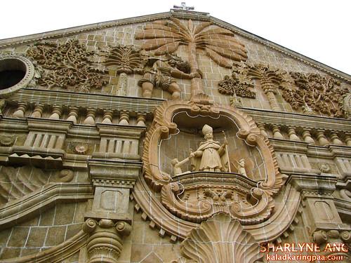 Facade of Miag-ao Church, Iloilo - Close Up