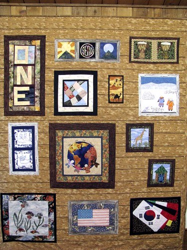 We Are the World by Nancy Semich the Fabric Stalkers May Gallery Exhibit @Quiltworks