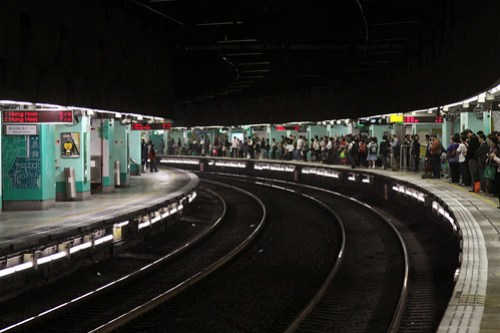 Mind the Gap: extremely curved platform at Mong Kok East station