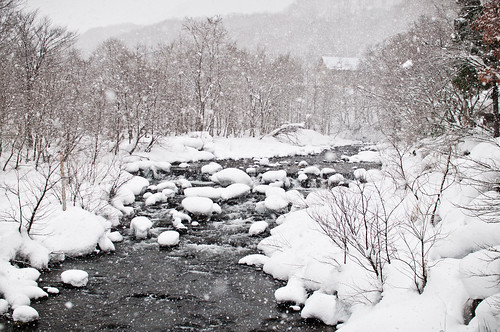 Japan winter far from the coast