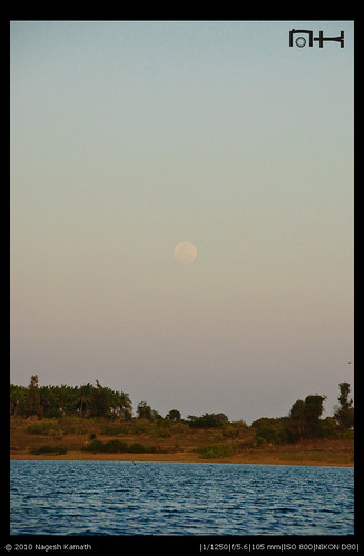 Moon Rise over Kabini