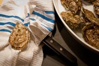 Oesters voor in de romige oestersoep