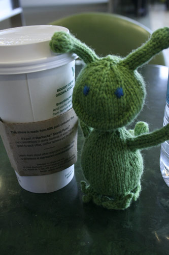 Greenly enjoying a Chai before the flight
