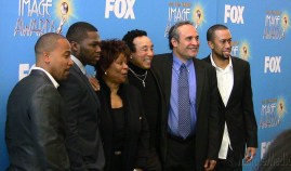 Presenters at the 42nd NAACP Awards Nominees Press Conference,