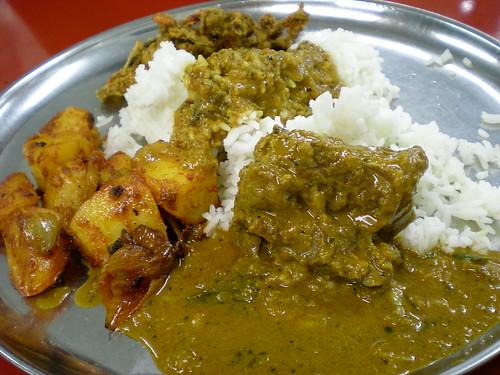 Indian lunch - nasi kandar 1