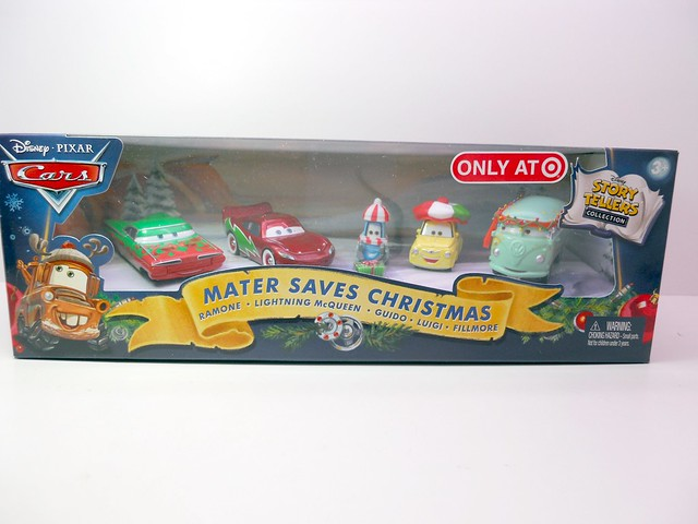 Mater saves christmas story tellers, luigi,guido fillmore,hotshot lightning mcqueen ramone target set (1)