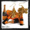 LNRORO orecchini dorati veuve clicquot golden earrings 1129 natale