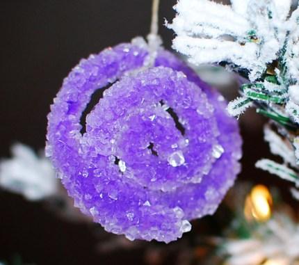 Borax Crystal - Purple Swirl