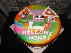 Tie Dye House Warming Cake