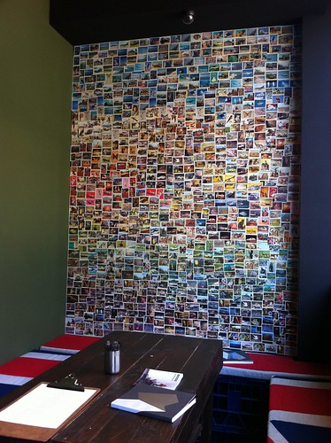 photo wall - little queen cafe, chippendale