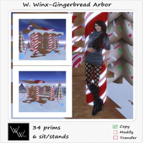 Gingerbread Arbor W.Winx