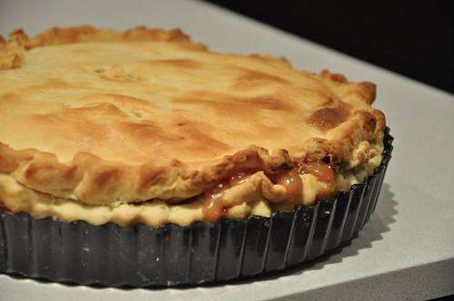 Honey Caramel Peach Pie