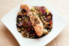 salmon on vegetables III