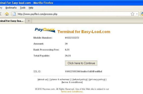 Pay Flexi Process Page