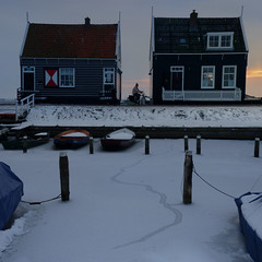Characteristic wooden houses of Marken