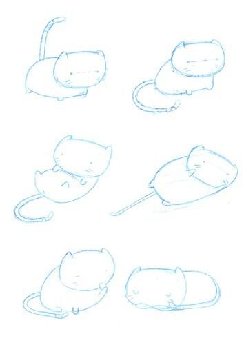 Rascunhos diversos do Gato Froid (clica na imagem que engrandalhece)