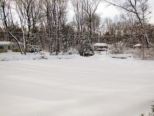 Another heavy snowfall yesterday