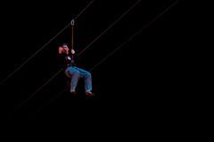 John on Fremont Street Zipline 1