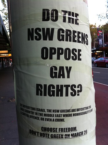 Do the NSW Greens Oppose gay Rights?