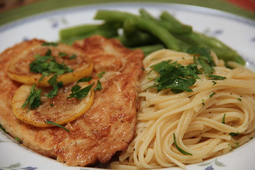 Fish Francaise with Linguini