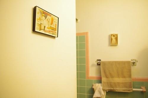 Bathroom - peek-a-boo pin ups