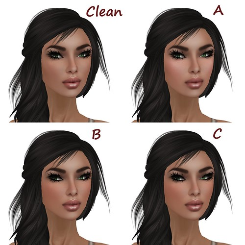 Glam Affair Mary Clean Makeup and Blush Options A-C