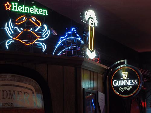 Bar scene signs
