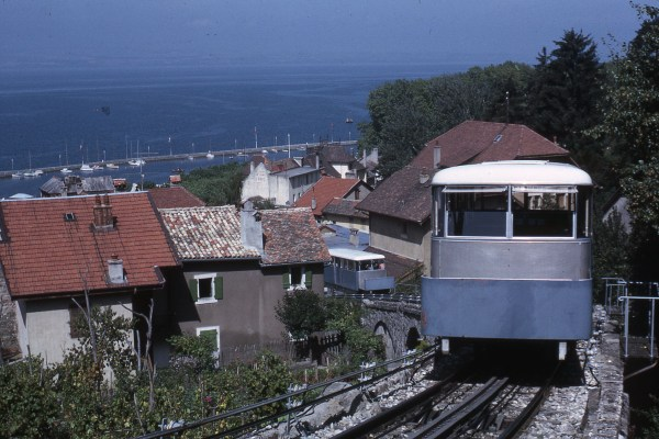Le funiculaire de Rives à Thonon 1965 / Funicular from Rives to Thonon in 1965
