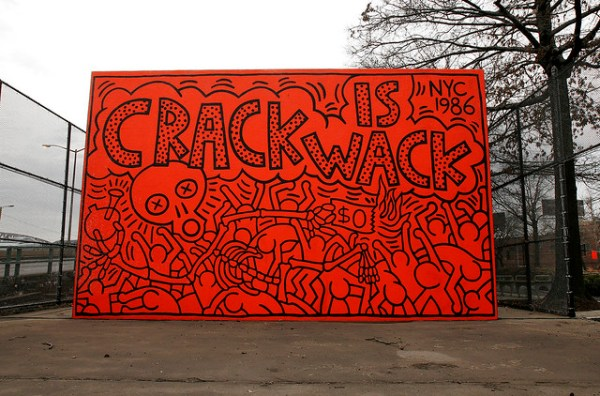 "R.I.P. Keith Haring - ""Crack Is Wack"" Mural"