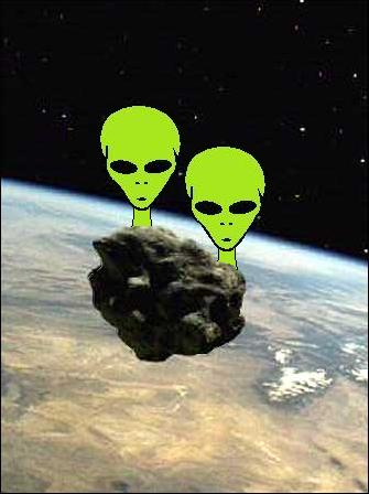 Space Aliens on Meteorites