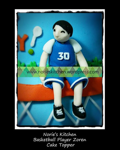 Norie's Kitchen - Zoren Legaspi's Birthday Cake - Basketball Player Topper