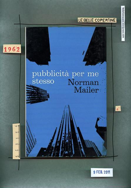 Norman Mailer, Pubblicità per me stesso, Lerici 1968. Sovracoperta (part.)