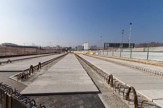 Pont de la Avda de Santa Coloma - desde lado mar - 10-02-11