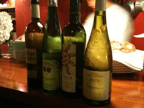 白ワインチョイス中。