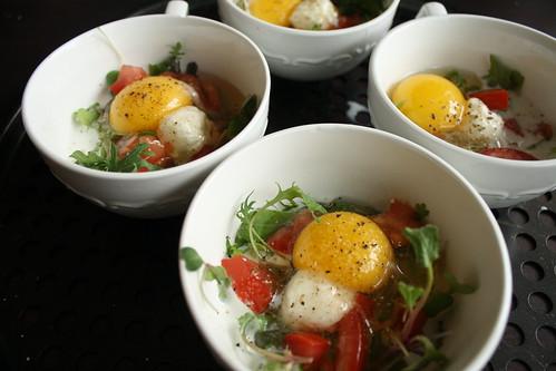 Pre-oven eggs